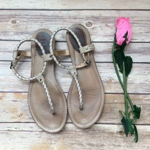 Frye Madison Braided leather sandals size 7M Loved